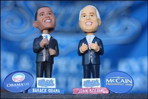 Obama and McCain bobbleheads